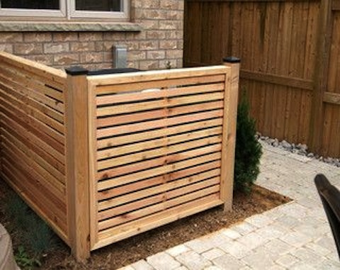 Wood Pool Equipment Enclosure